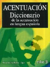 Acentuación Diccionario
