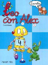 Leo con Alex. Escritura 4. Cuadrícula Educación Infantil