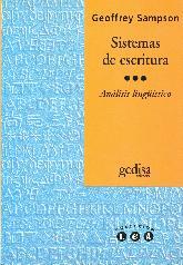 Sistemas de escritura : introduccion lingüistica