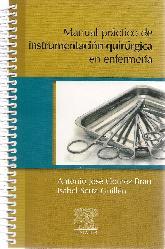 Manual práctico de instrumentación quirurgica en enfermería