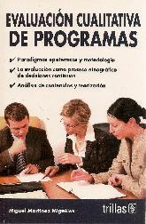 Evaluacion cualitativa de programas, paradigmas epistemicos y metodologia, evaluacion como proceso