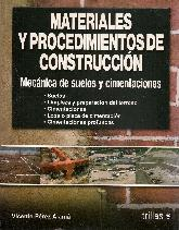 Materiales y procedimientos de construccion Mecanica de suelos y cimentaciones