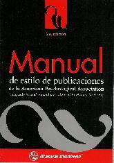 Manual de estilo de publicaciones de la American Psychologycal Association APA