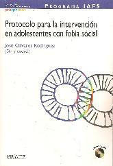 Programa IAFS Protocolo para la intervención en adolescentes con fobia social con CD