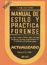 Manual de estilo y practica forense  Tomo 1