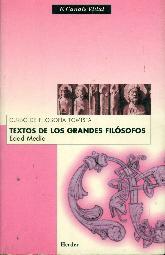 Textos de los grandes filosofos Edad Media. Curso de filosofia tomista