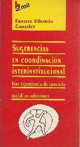 Sugerencia en coordinacion Interinstitucional