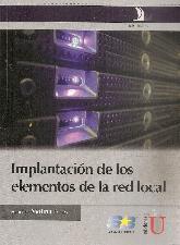 Implantación de los elementos de la red local