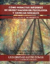 Cómo redactar informes de investigación en psicología y ciencias sociales
