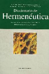 Diccionario de Hermenéutica