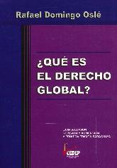 ¿ Qué es el Derecho Global ?