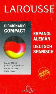 Diccionario Compact Español Aleman Deutsch Spanisch Larousse