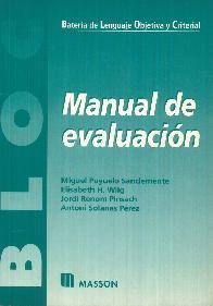 BLOC Bateria de lenguaje objetiva y criterial: Manual de imagenes y administracion