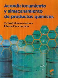 Acondicionamiento y Almacenamiento de Productos Químicos