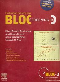 BLOC S-R Bloc Screening Revisado. Evaluacion del lenguaje