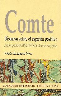 Comte Discurso sobre el espíritu positivo