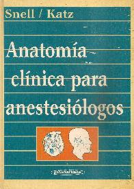 Anatomia Clinica para Anestesiologos