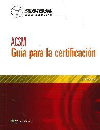ACSM Guía para la Certificación
