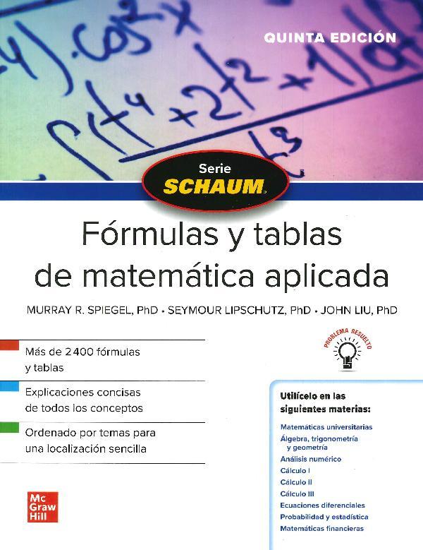 Schaum Fórmulas y tablas de matemática aplicada