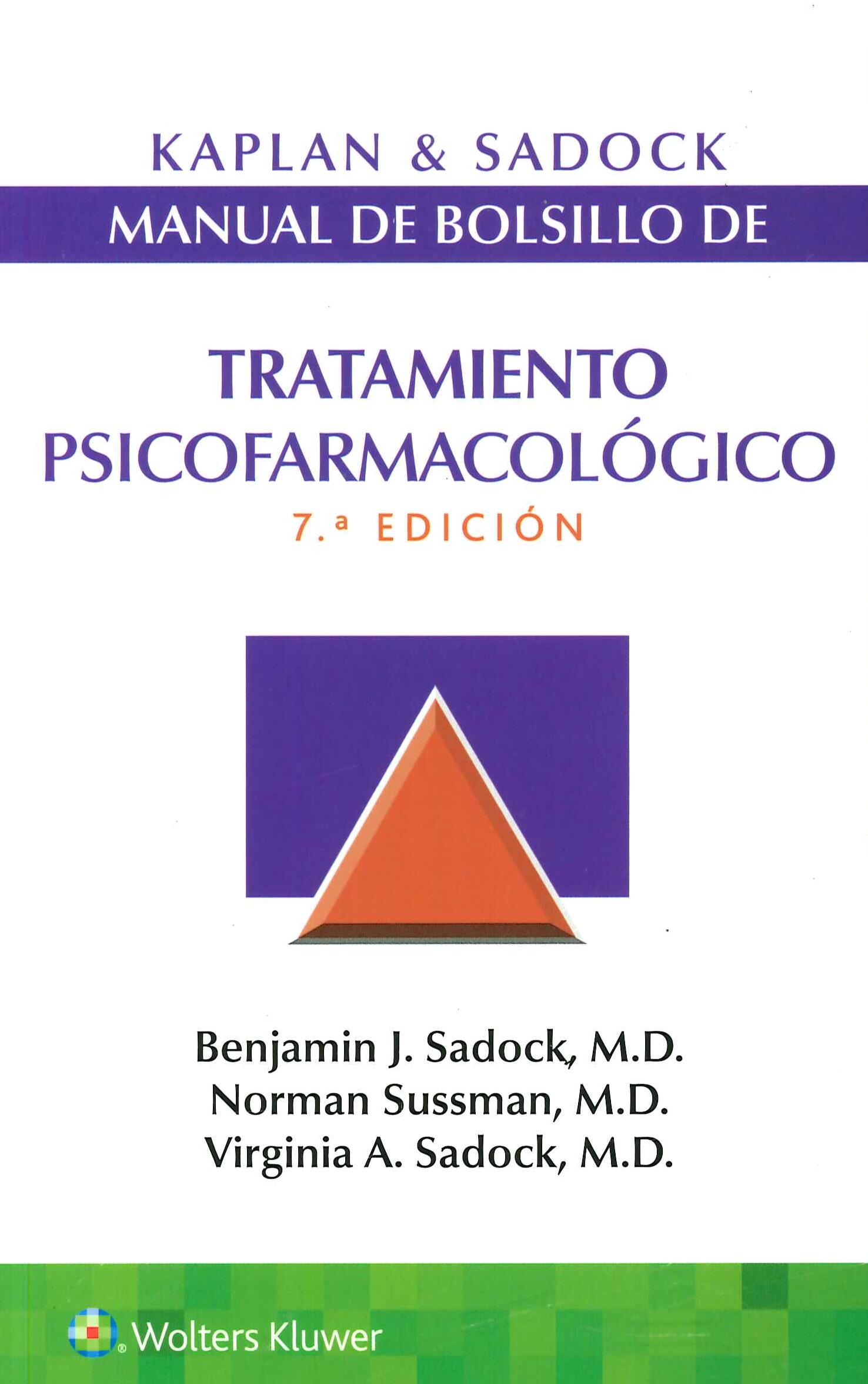 Tratamiento Psicofarmacológico Manual de Bolsillo Kaplan & Sadock