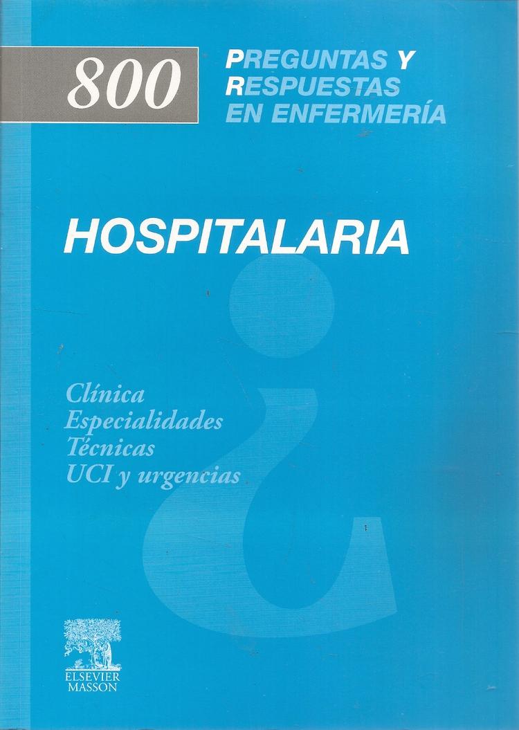 800 P y R en Enfermería Hospitalaria